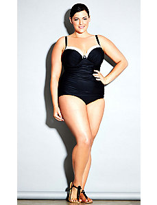 Monaco Underwire One Piece - Black by City Chic