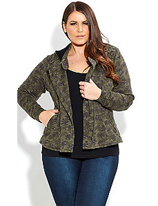 Camo Girl Knit Jacket by City Chic