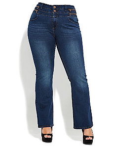 Zip Hi Waist Bootleg Jean by City Chic