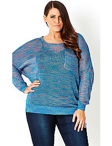 Metallic Blues Jumper by City Chic