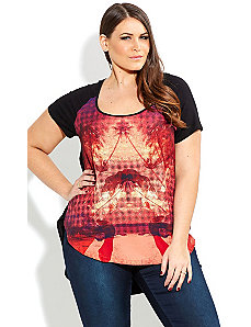 Mirage Horses Graffiti Top by City Chic