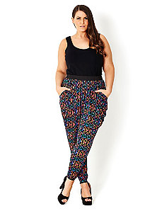 Geometric Harem Pant by City Chic