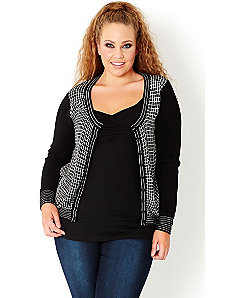 Check Mate Cardi by City Chic