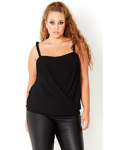 Wrap Front Top by City Chic