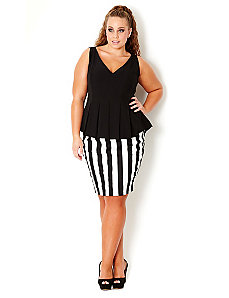 Super Stripe Skirt by City Chic