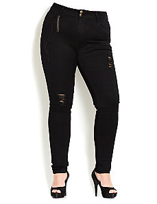 Rip Tear Skinny Jean by City Chic
