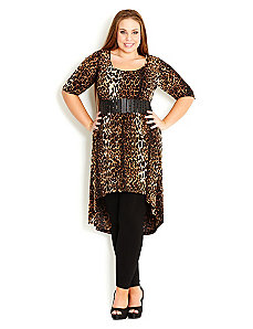 Jungle Queen Hi Lo Tunic by City Chic