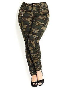 Camo Cadet Cargo by City Chic
