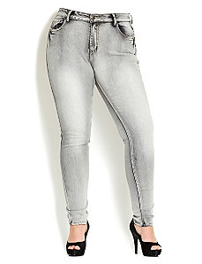 Up In Smoke Skinny Jean by City Chic