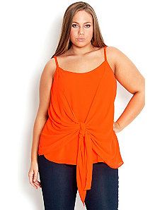 Col Pop Strappy Top by City Chic