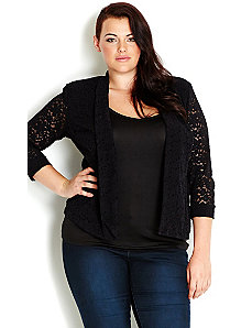 Soft Lace Jacket by City Chic