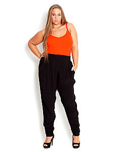 Crepey Harem Pant by City Chic