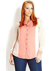 Sweet Spliced Shirt by City Chic