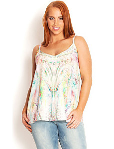 Pastel Mirage Top by City Chic