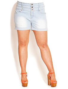 Short Light Hi Waist Short by City Chic