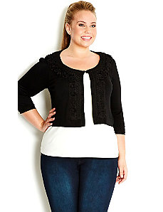 Fancy Knit Cardi by City Chic