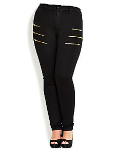 All Zipped Up Skinny Jean by City Chic
