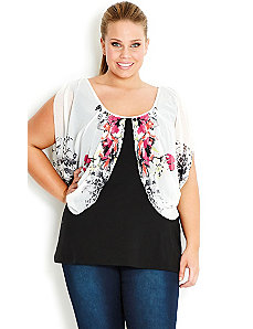 Floral Drape Top by City Chic