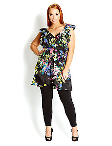 Floral Ruffle Tunic by City Chic