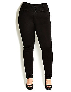 Hi Waist Honey Skinny Jean by City Chic