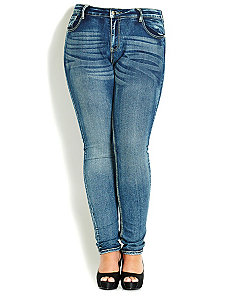 Ocean Girl Skinny Jean by City Chic