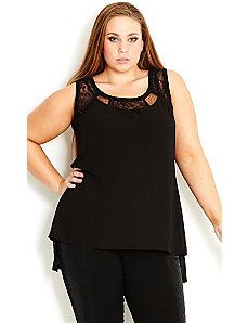 Lace Insert Top by City Chic