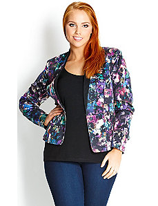 Garden Contrast Jacket by City Chic