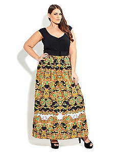 So Cute Paisley Maxi Dress by City Chic