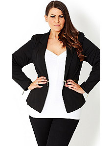 Zip Waist Jacket by City Chic