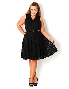 Lace Swing Dress by City Chic