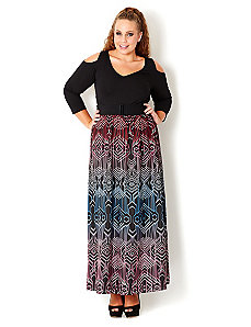 Colored Lines Maxi Dress by City Chic