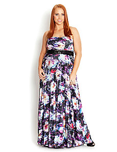 Mirage Pleat Maxi by City Chic