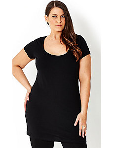 Super Longline Basic Top by City Chic