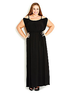 Off Shoulder Maxi Dress by City Chic