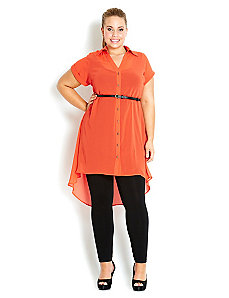 Koi Girl Tunic Shirt by City Chic