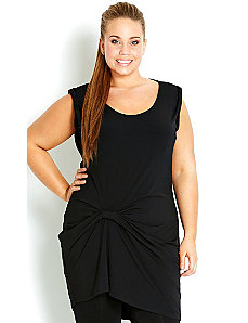 Pleated Longline Top by City Chic