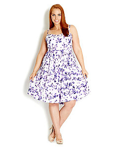 Raining Violets Dress by City Chic