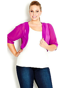 Colored Chiffon Shrug by City Chic