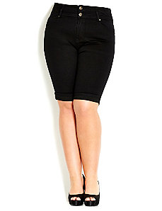 Hourglass TDF Shorts - Black by City Chic