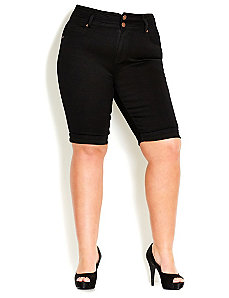 Pear TDF Shorts - Black by City Chic