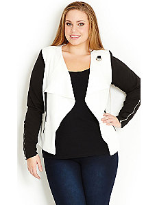 Two Tone Jacket by City Chic