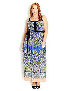 Paisley Blues Maxi Dress by City Chic