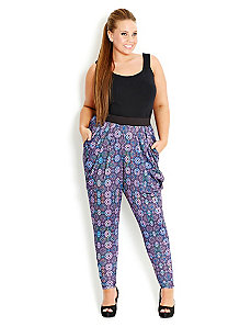 Soft Mosaic Harem Pant by City Chic