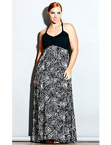 Safari Maxi Dress by City Chic