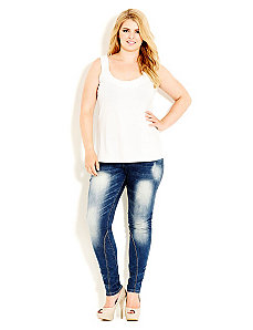 Attitude Skinny Jean by City Chic