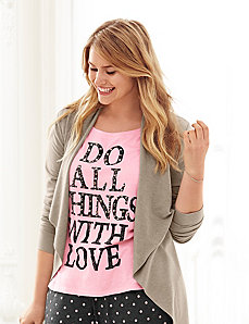 Love embellished tee