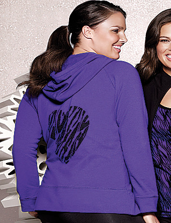 Plus Size Sequin Animal Hoodie by Lane Bryant
