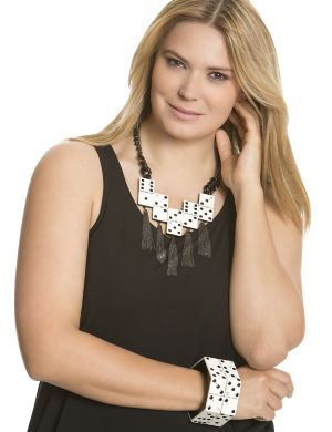 Domino tassel necklace by Isabel Toledo