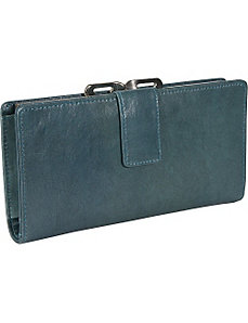 Distressed Leather Clutch Wallet by Budd Leather