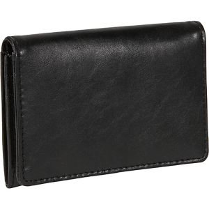 Distressed Leather Credit Card Case